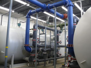 Municipal engineering, water, iron removal
